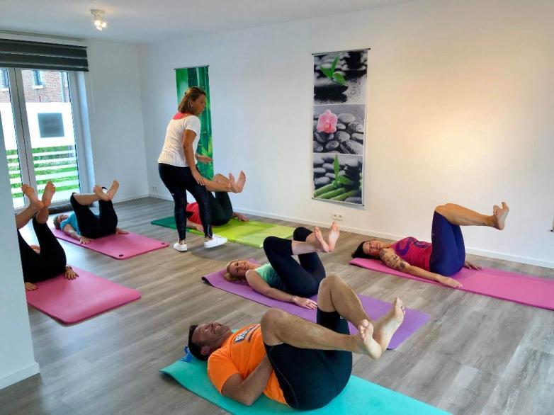 cours collectif de Pilates avec Laetitia